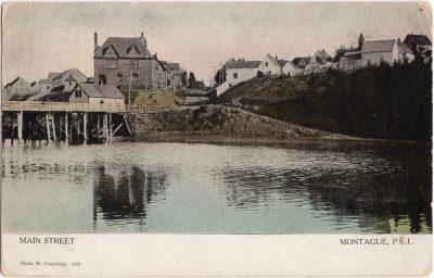 , Main Street, Montague, P.E.I. (0991), PEI Postcards