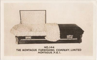 , No.144 The Montague Furnishing Company, Limited Montague, P.E.I. (0989), PEI Postcards