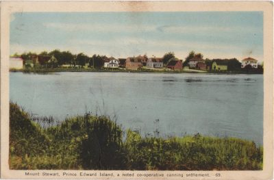 , Mount Stewart, Prince Edward Island, a noted co-operative canning settlement. (0985), PEI Postcards