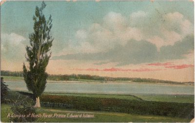 , A glimpse of North River, Prince Edward Island (0980), PEI Postcards