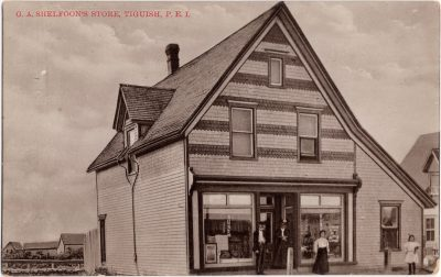 , G.A. Shelfoon's Store, Tiguish, P.E.I. (1014), PEI Postcards