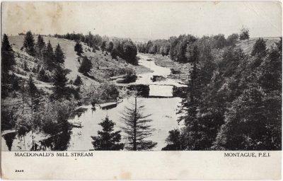 , MacDonald's Mill Stream Montague, P.E.I. (1012), PEI Postcards