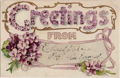 , Greetings from Charlottetown P.E. Island. (1021), PEI Postcards