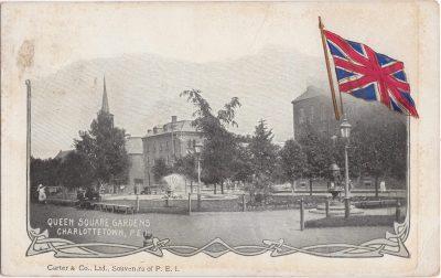 , Queen Square Gardens, Charlottetown, P.E.I. (1011), PEI Postcards