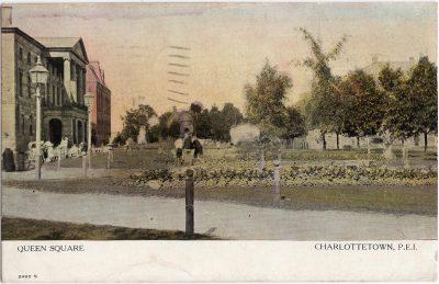 , Queen Square Charlottetown, P.E.I. (1008), PEI Postcards
