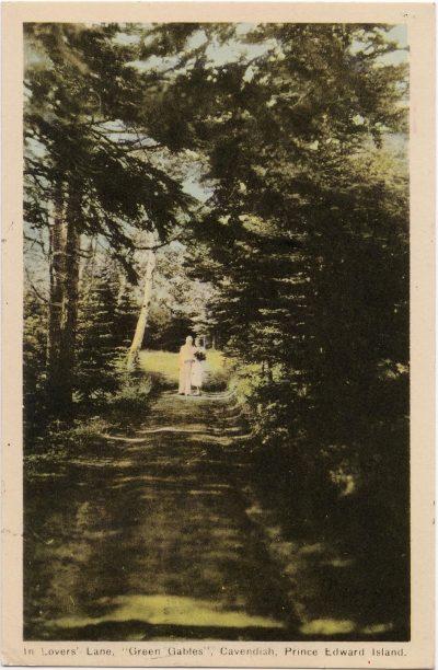 ", In Lovers' Lane, ""Green Gables"", Cavendish, Prince Edward Island. (1019), PEI Postcards"