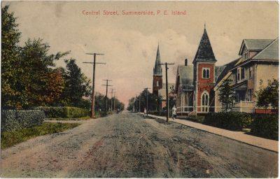 , Central Street, Summerside, P.E. Island (1007), PEI Postcards