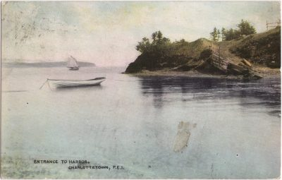, Entrance to Harbor, Charlottetown, P.E.I. (1025), PEI Postcards