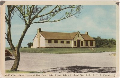 , Golf Club House, Green Gables Golf Links, Prince Edward Island Nat. Park. P.E.I. Canada. (1036), PEI Postcards