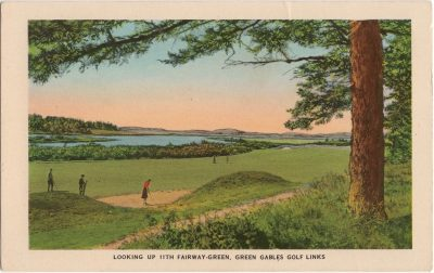 , Looking up 11th Fairway-Green, Green Gables Golf Links. (1039), PEI Postcards