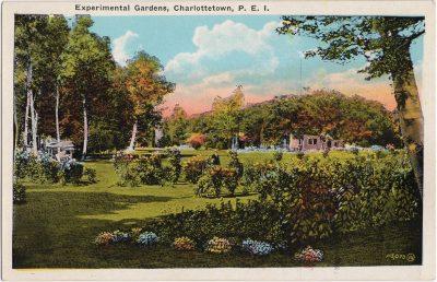 , Experimental Gardens, Charlottetown, P.E.I. (1041), PEI Postcards