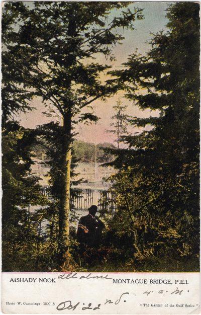 , A shady nook Montague Bridge, P.E.I. (1078), PEI Postcards