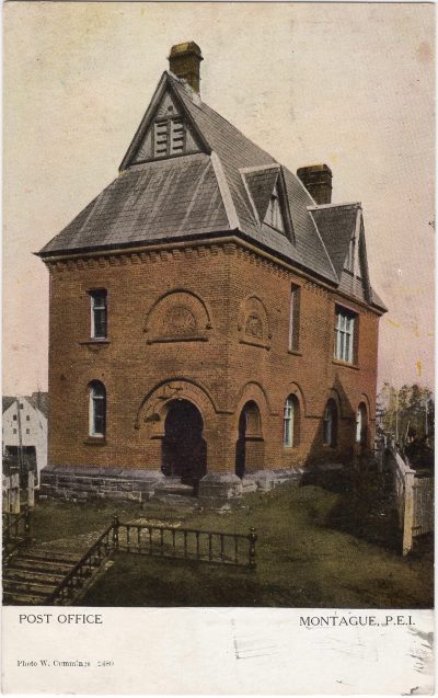, Post Office Montague, P.E.I. (1087), PEI Postcards