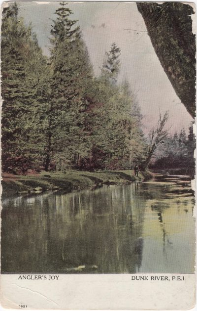 , Angler's Joy Dunk River, P.E.I. (1077), PEI Postcards
