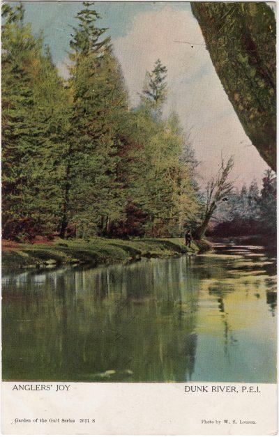 , Anglers' Joy Dunk River, P.E.I. (1075), PEI Postcards