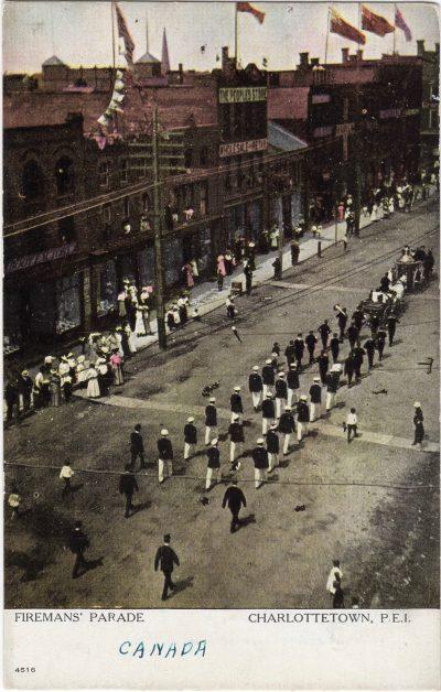 , Firemans' Parade Charlottetown, P.E.I. (1084), PEI Postcards