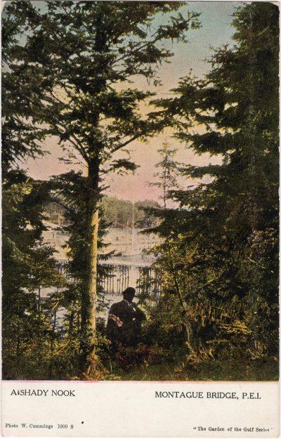 , A shady nook Montague Bridge, P.E.I. (1071), PEI Postcards