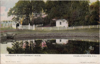 , Entrance to Government House Charlottetown, P.E.I. (1066), PEI Postcards