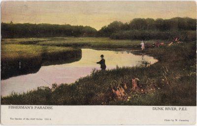 , Fisherman's Paradise Dunk River, P.E.I. (1062), PEI Postcards