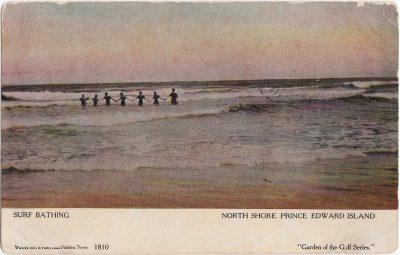 , Surf Bathing North Shore, Prince Edward Island (1058), PEI Postcards