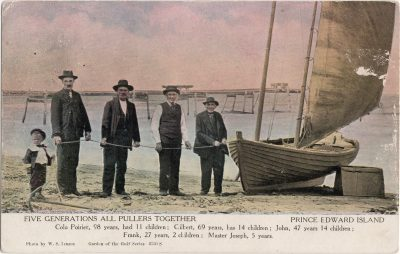 , Five Generations All Pullers Together Prince Edward Island (1056), PEI Postcards