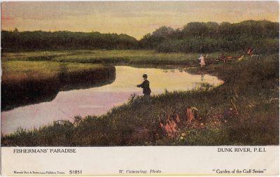 , Fisherman's Paradise Dunk River, P.E.I. (1057), PEI Postcards