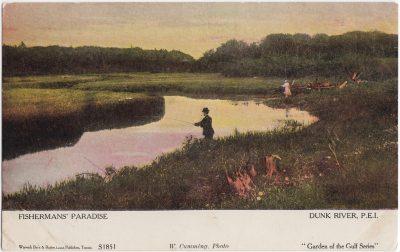 , Fisherman's Paradise Dunk River, P.E.I. (1055), PEI Postcards