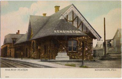 , Railway Station Kensington, P.E.I. (1053), PEI Postcards