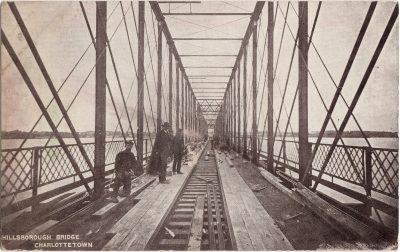 , Hillsborough Bridge Charlottetown (1050), PEI Postcards