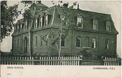 , High School Summerside, P.E.I. (1048), PEI Postcards