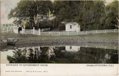 , Entrance to Government House Charlottetown, P.E.I. (1049), PEI Postcards