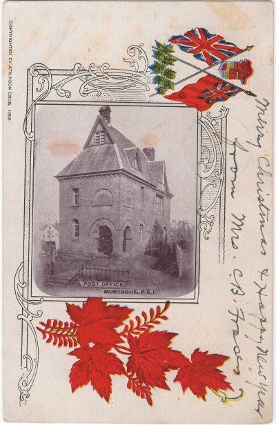 , Post Office Montague, P.E.I. (1045), PEI Postcards