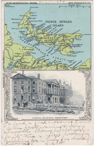 , Colonial Buildings, Charlottetown (1044), PEI Postcards