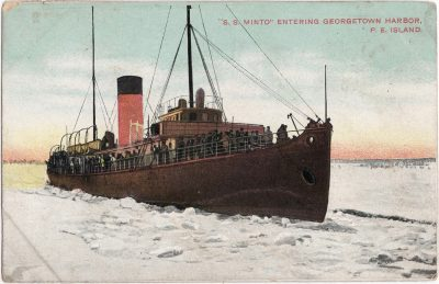 ", ""S. S. Minto"" entering Georgetown Harbor, P.E. Island. (1125), PEI Postcards"