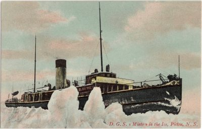 , D.G.S. Minto in the Ice, Pictou, N.S. (1124), PEI Postcards