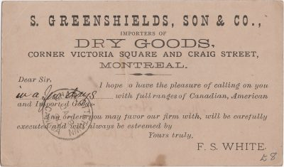 , S. Greenshields, Son & Co, Importers of Dry Goods, Corner Victoria Square and Craig St.     Montreal (1115), PEI Postcards