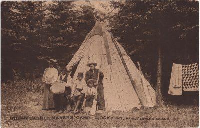 , Indian Basket Makers' Camp, Rocky Pt. Prince Edward Island (1110), PEI Postcards