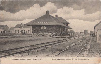 , Alberton Depot, Alberton, P.E. Island (1106), PEI Postcards