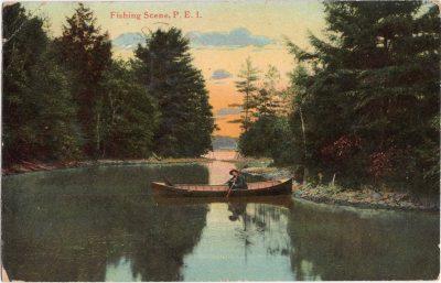 , Fishing Scene, P.E.I. (1107), PEI Postcards