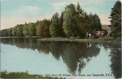 , Dunk River, the Famous Trout Stream, near Summerside, P.E.I. (1098), PEI Postcards