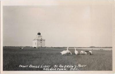, Front Range Light, St. Andrew's Point, Georgetown, P.E.I. (1096), PEI Postcards