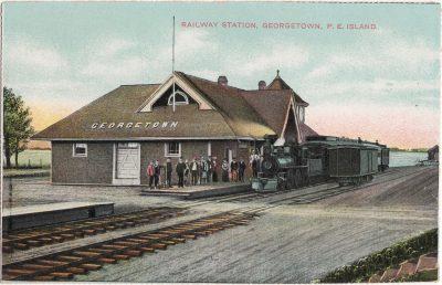 , Railway Station, Georgetown, P.E.Island (1099), PEI Postcards
