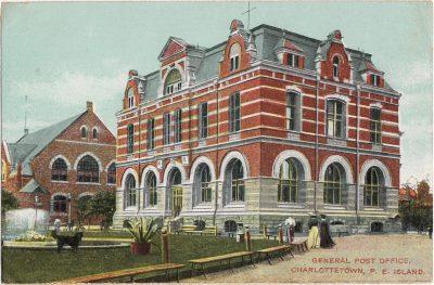 , General Post Office, Charlottetown, P.E. Island (1148), PEI Postcards