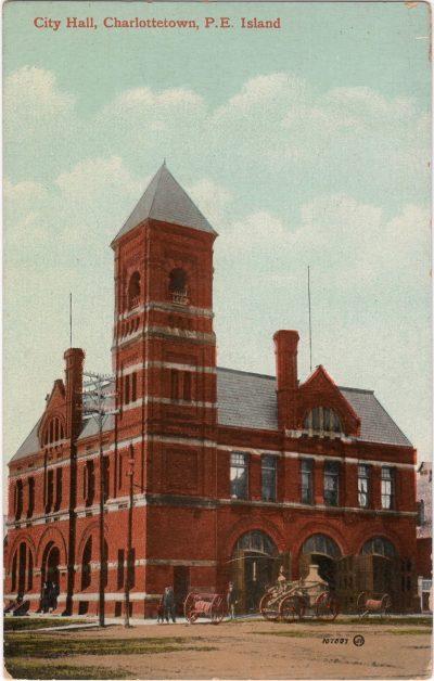 , City Hall, Charlottetown, P.E. Island (1145), PEI Postcards