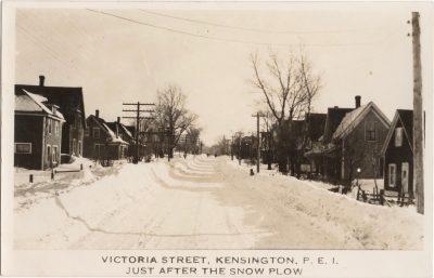 , Victoria Street, Kensington, P.E.I. Just after the Snow Plow. (1142), PEI Postcards