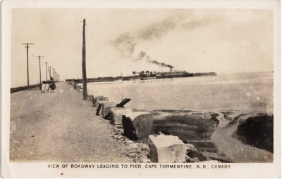 , View of Roadway Leading to Pier, Cape Tormentine, N.B., Canada. (1141), PEI Postcards