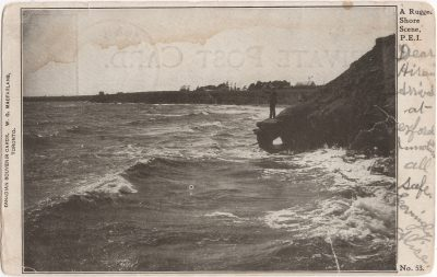 , A Rugged Shore Scene, P.E. I. (1134), PEI Postcards