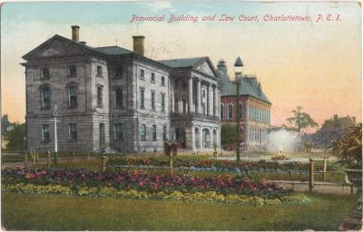 , Provincial Building and Law Court, Charlottetown, P.E.I. (1133), PEI Postcards