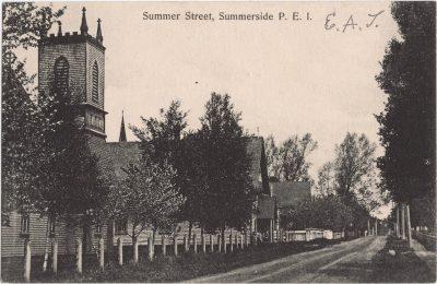 , Summer Street, Summerside P.E.I. (1131), PEI Postcards