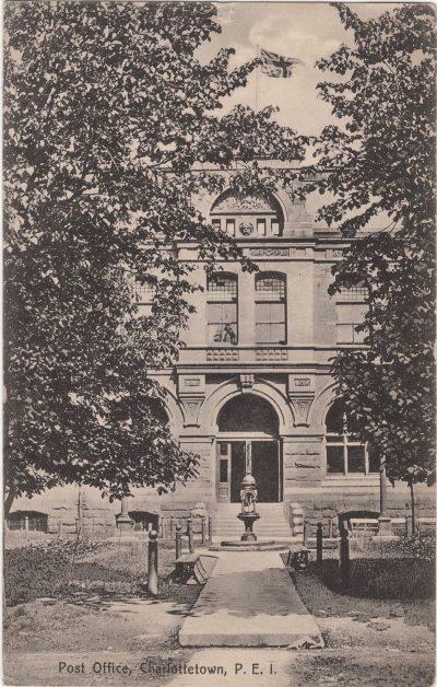 , Post Office, Charlottetown, P.E.I. (1173), PEI Postcards